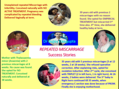 Success Stories in repeated Miscarriage