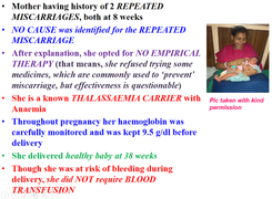 Thalassaemia Minor, Repeated Miscarriage