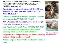 Bleeding in Pregnancy, past Miscarriage
