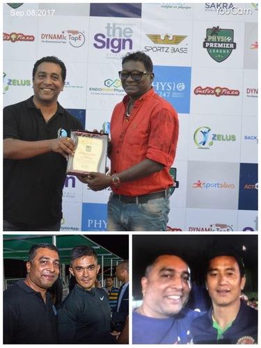 Dr.Gopakumar with Football Legends!!!!
