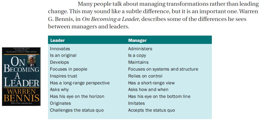 managing change and leading people essay