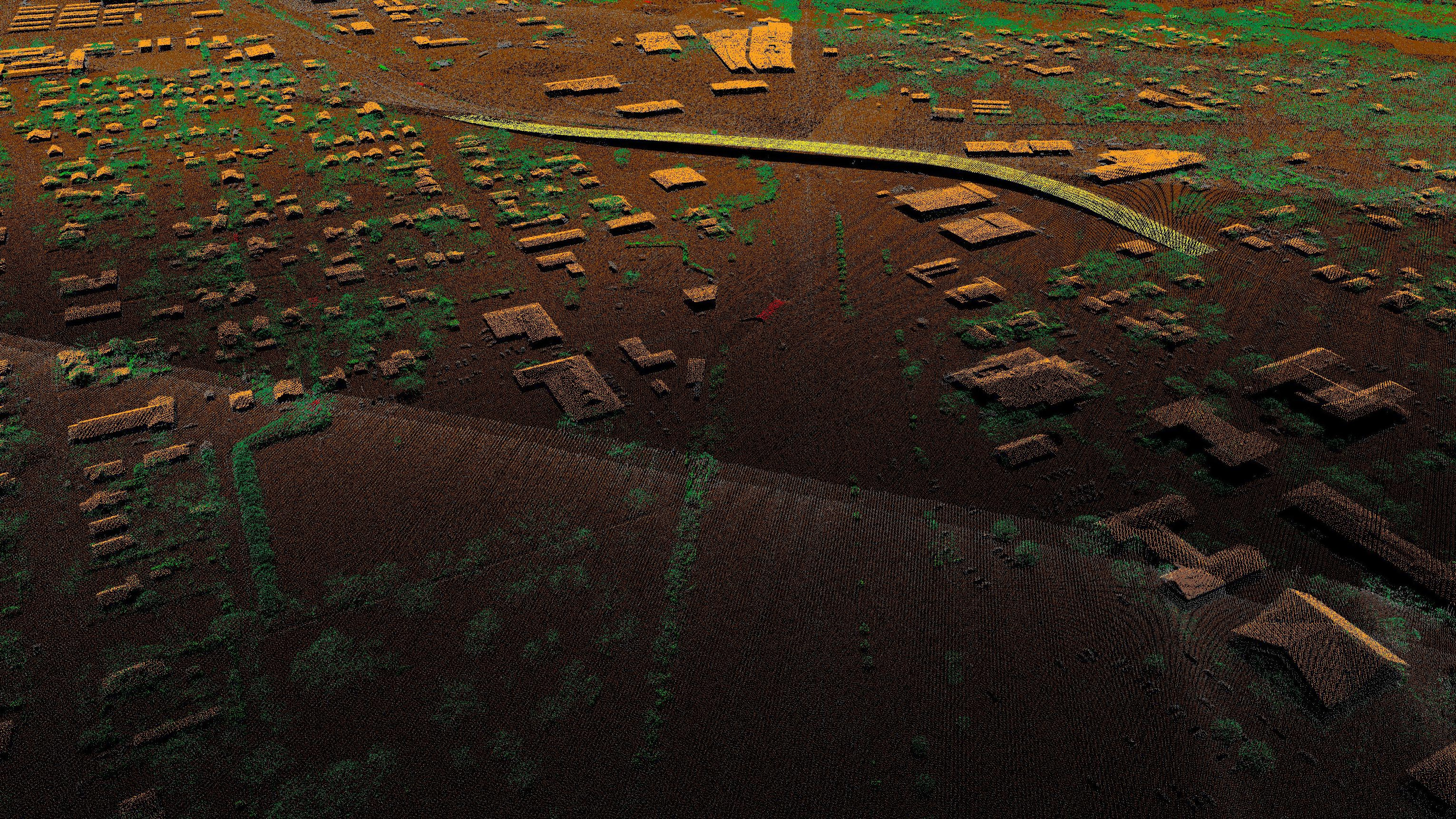 detail image of the Brown County Lidar