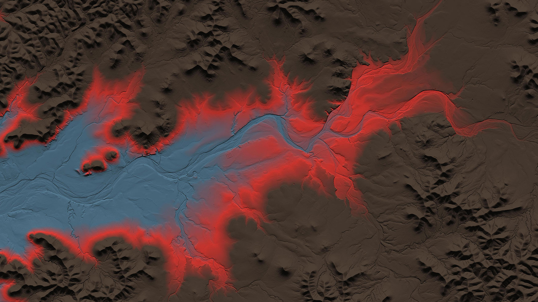 detail image of the Lower Colorado San Bernard Lidar