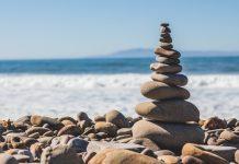 Stone pile in balance