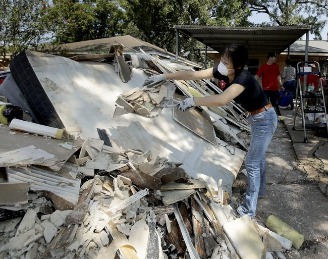 Houston Christmas Tree Pickup Part - 19: Wreckage Piles Up As Houston Residents Experience First Trash Day Since  Hurricane
