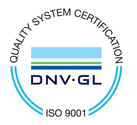 ISO 9001 Quality Management System DNV Certification Mark