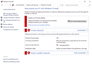How to stop Windows Firewall from turning itself on