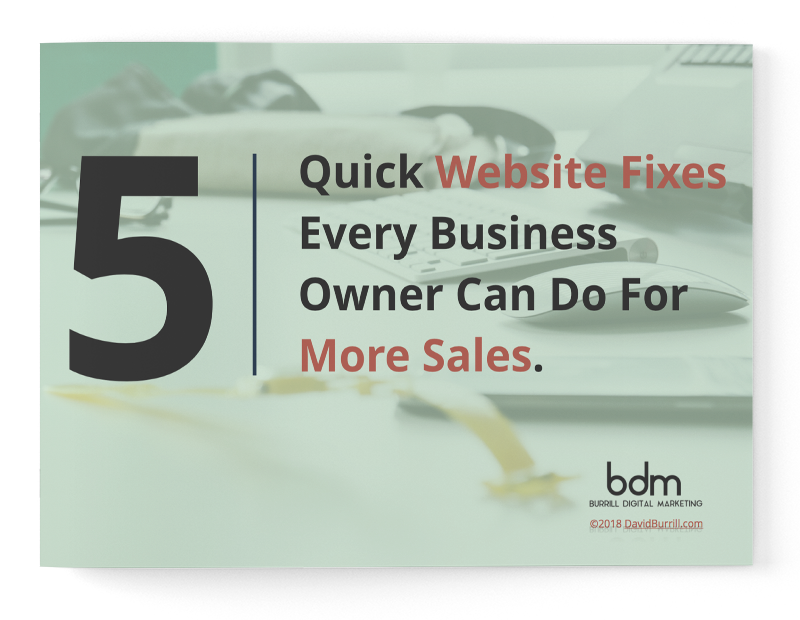 Quick Website Fixes - More Sales