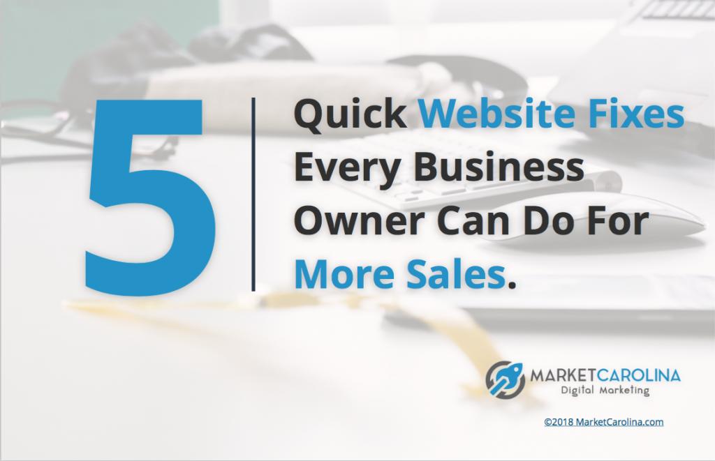 5 Quick Website Fixes