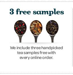 Get free tea samples