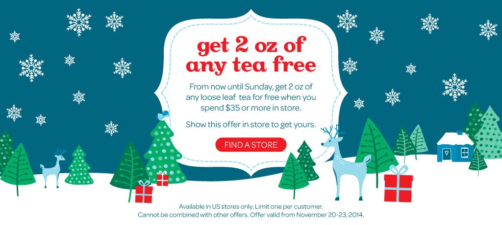 Get any free tea in US stores