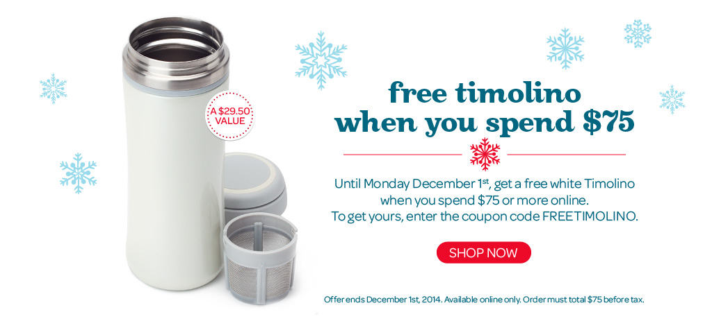 Free Timolino Travel Mug When You Spend $75