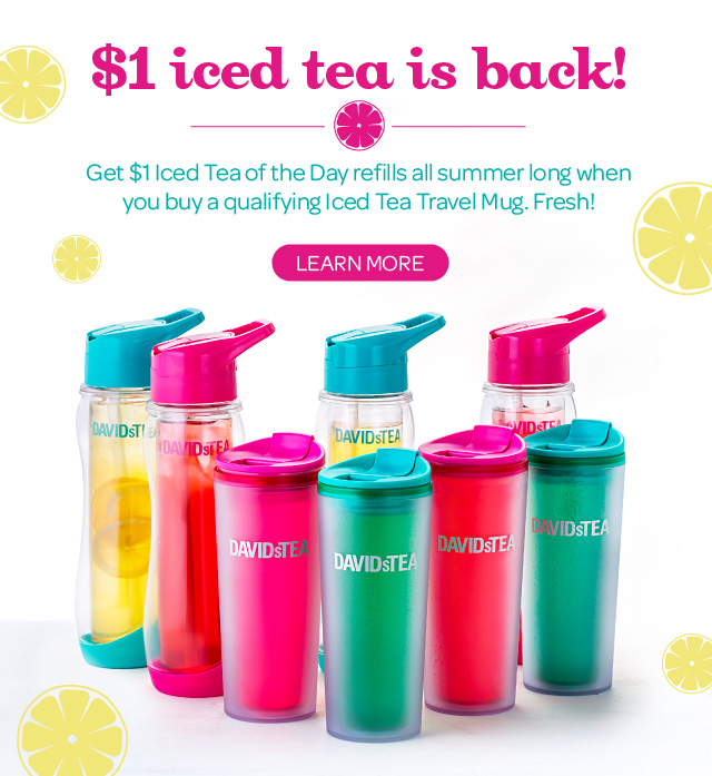 One Dollar Iced Tea Is Back!