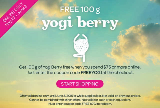 Limited Time Offer on Yogi Berry