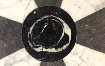 The anchor piece… a 400 million year old Irish Limestone Fossil