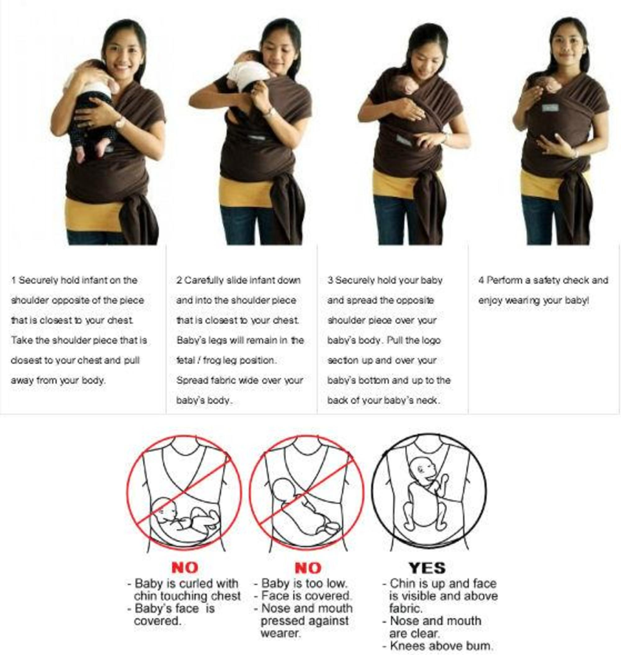 Stork Organic Baby Boutique Happy Baby Wrap Carrier