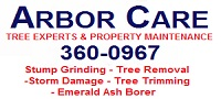 Website for Arbor Care Tree Experts and Property Maintenance