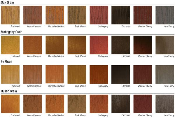 Paint or stain s&les may vary from the actual finish. For further ex&les of our paint and stain options please refer to our Paint and Stain Selection ...  sc 1 st  MMI DOOR & Fiberglass Stain Color Options | MMI DOOR