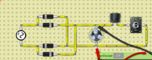 Filter capacitor in output of full wave bridge rectifier.