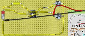Switch 12V to 7V with 18ohm resistor