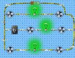 Es un circuito donde se encuentran ventiladores y lamparas en serie, en el circuito también hay un interruptor donde apaga o enciende 1 lampara y dos ventiladores