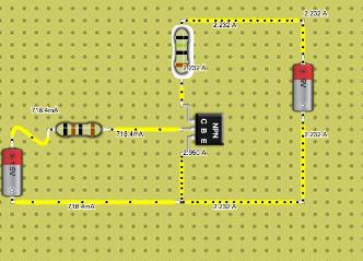 NPN Transistor 1.5V Resistor green