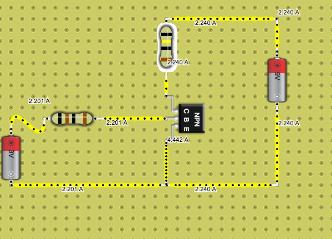 NPN Transistor 1.5V Resistor yellow