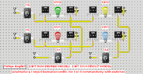 2 bit RAM electronic circuit model