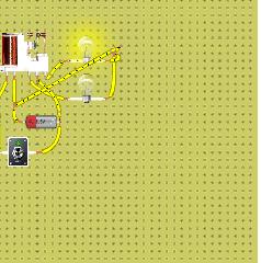 şalter kontrollü iki lamba