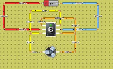 interruptor conmutado (control giro motor corriente continua)