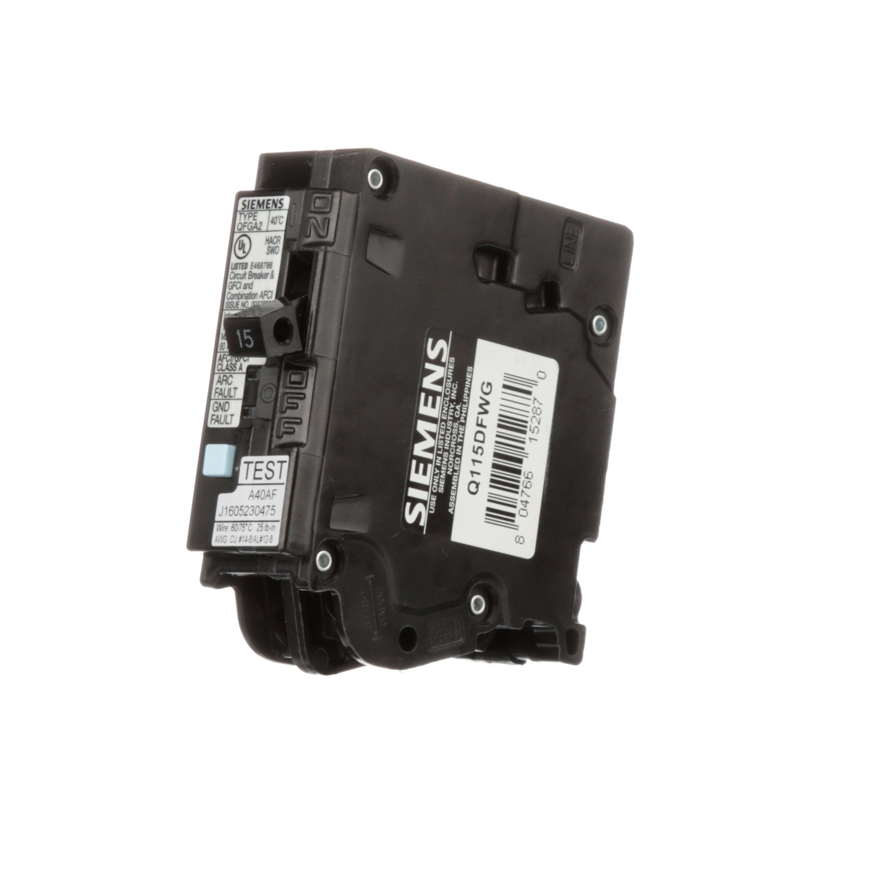 Product List Werner Electric Arc Fault Circuit Interrupters Afcis Siemens Q115dfwg Brkr Qfga2 Afci Gfci 1p 120v 15a 10ka Wg