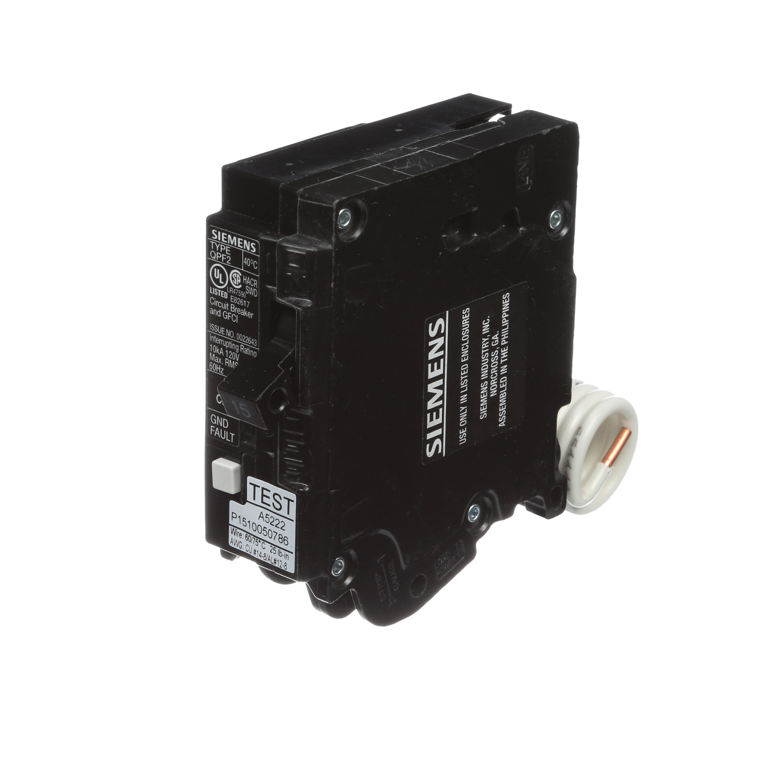 Power Distribution Switch Gear Transformers Protection 12v 250 Circuit Breaker Molded Case 60 Siemens Ground Fault 120 240 Vac 15 A 50 To