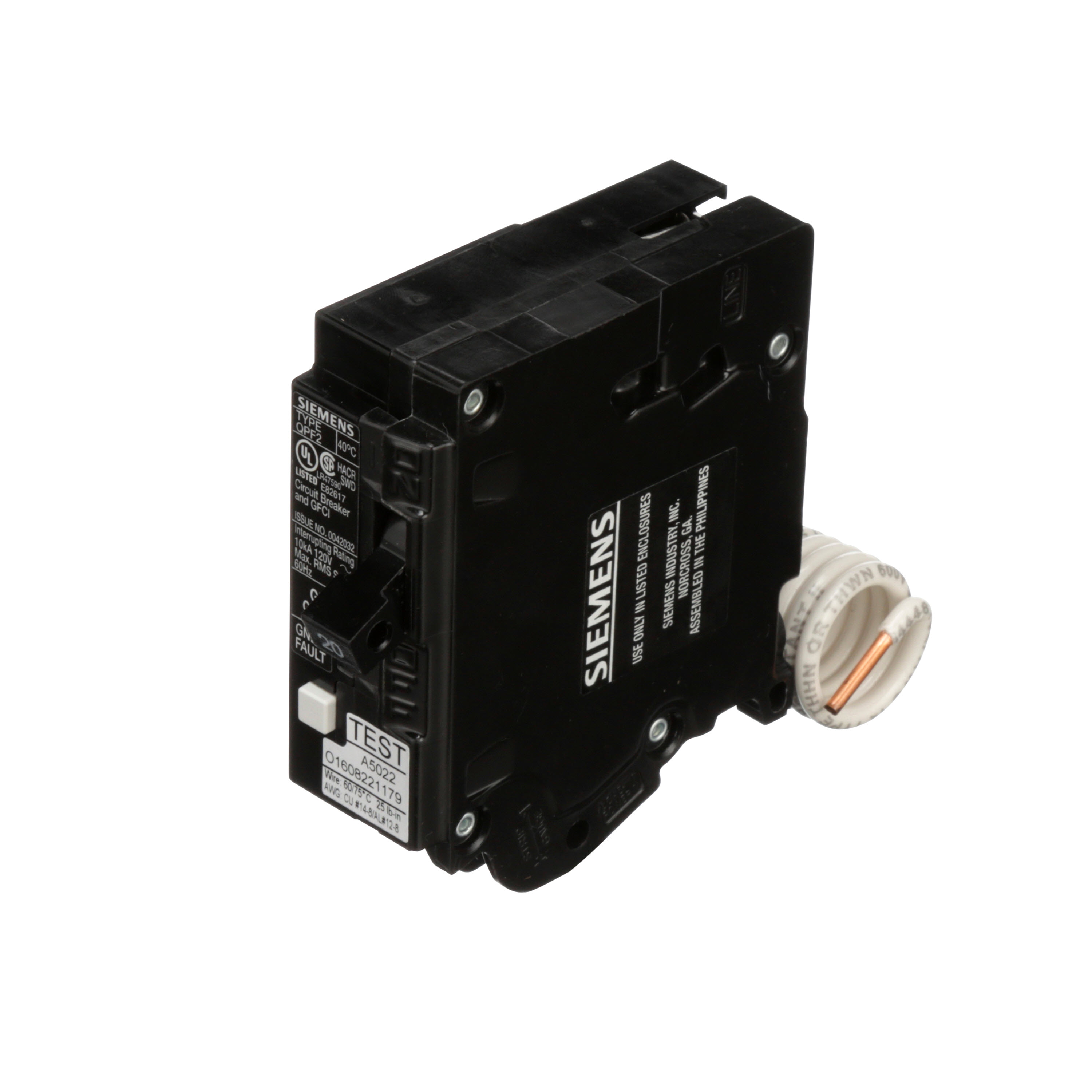 Circuit Protection Devices Breakers Frost 200 Amp Federal Pacific Fuse Box 20 1 Pole Gfci Breaker Plug In 10k Aic 5ma