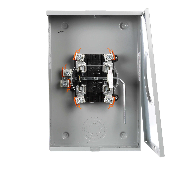 TALON® Meter Socket, Type HQU 1-Position Continuous Duty, 600 VAC,