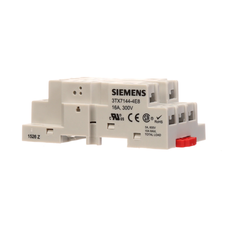 SIE 3TX7144-4E8 SIEMENS MOUNTING SOCKET FOR 3TX7116 SERIES