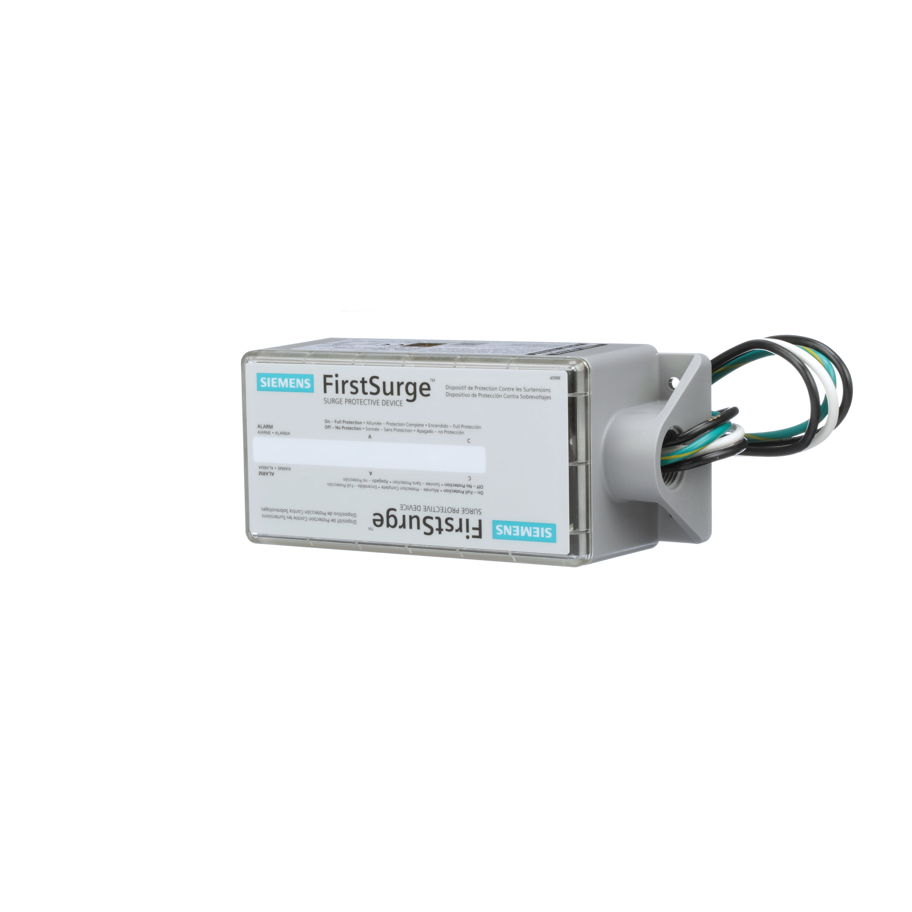 Siemens FirstSurge™ Pro FS140 1-Phase Type 2 Surge Protection Device, 120/243 VAC, 400 A, 140 kA SCCR, 2 Poles