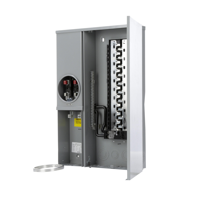 Siemens MC4040B1200SECW 120/240 VAC 200 Amp 1-Phase 3-Wire NEMA 3R Ring Type Combination Meter Load Center