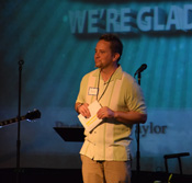 Pastor Ben preaching