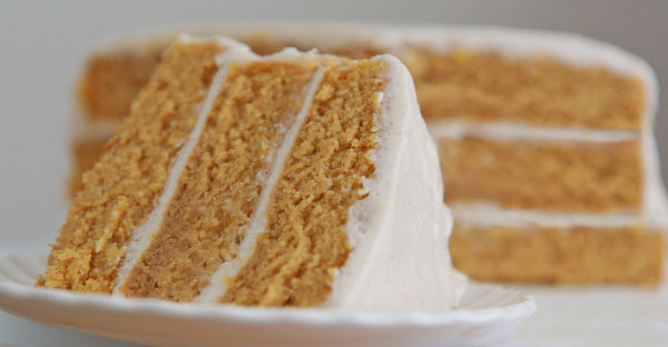 ... this pumpkin spice cake with an easy cinnamon cream cheese frosting