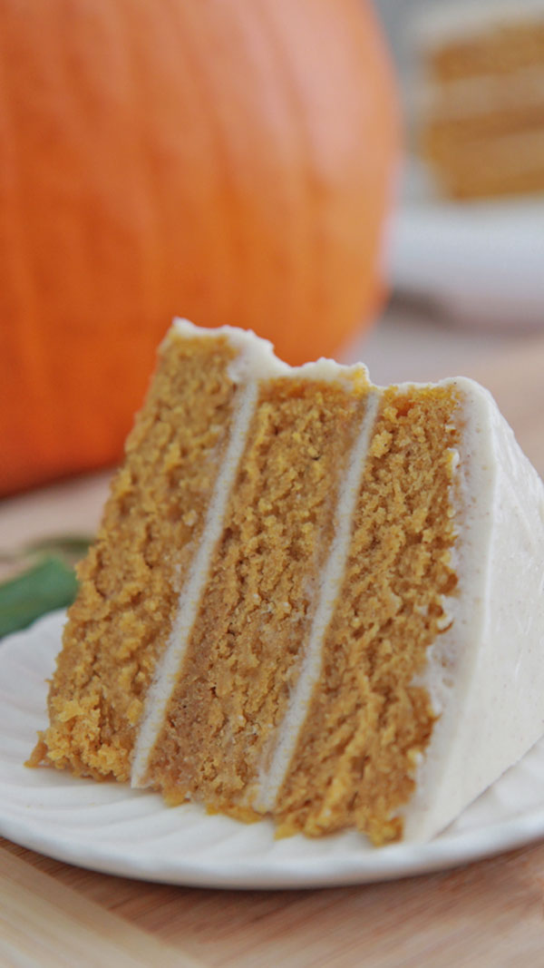Pumpkin Spice Cake Cream Cheese Frosting Recipe