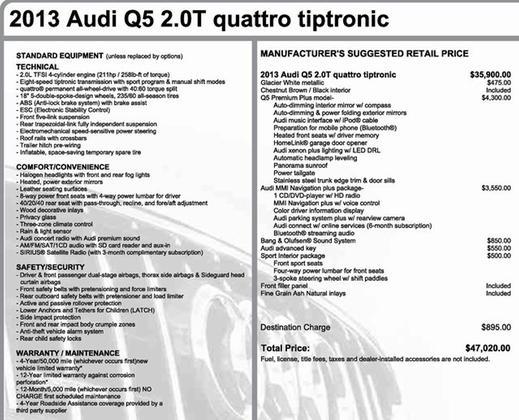 2013 Audi Q5 2.0T Premium Plus:2 car images available