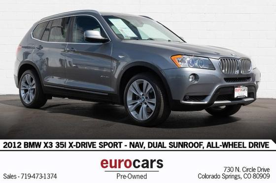 2012 BMW X3 35i:24 car images available