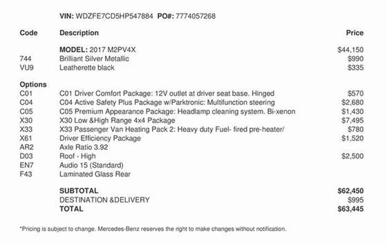 2017 Mercedes-Benz Sprinter 2500:2 car images available