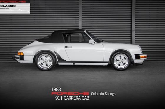 1988 Porsche 911 Carrera Cabriolet:24 car images available