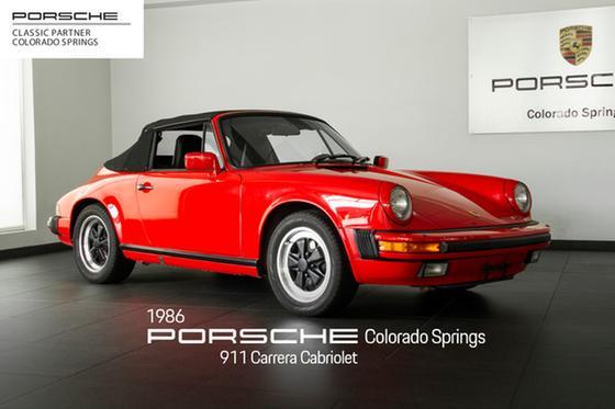 1986 Porsche 911 Carrera Cabriolet:24 car images available