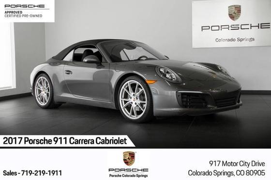 2017 Porsche 911 Carrera Cabriolet:23 car images available