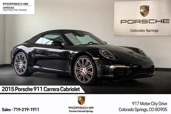 2015 Porsche 911 Carrera Cabriolet:21 car images available