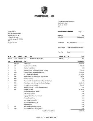 2021 Porsche Boxster S:2 car images available
