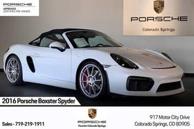2016 Porsche Boxster Spyder:24 car images available