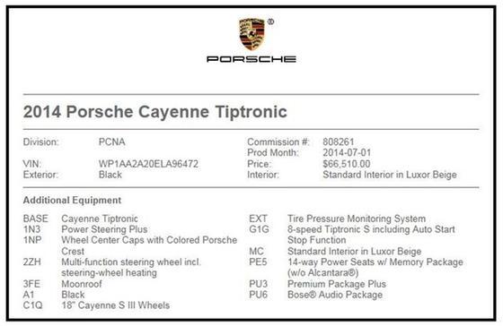 2014 Porsche Cayenne  : Car has generic photo